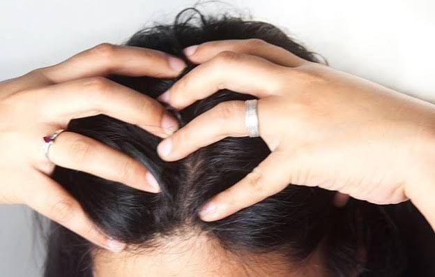 saç derisine masaj